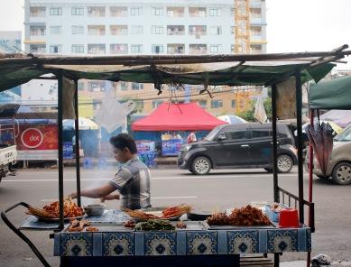 Street food vendor in Yangon